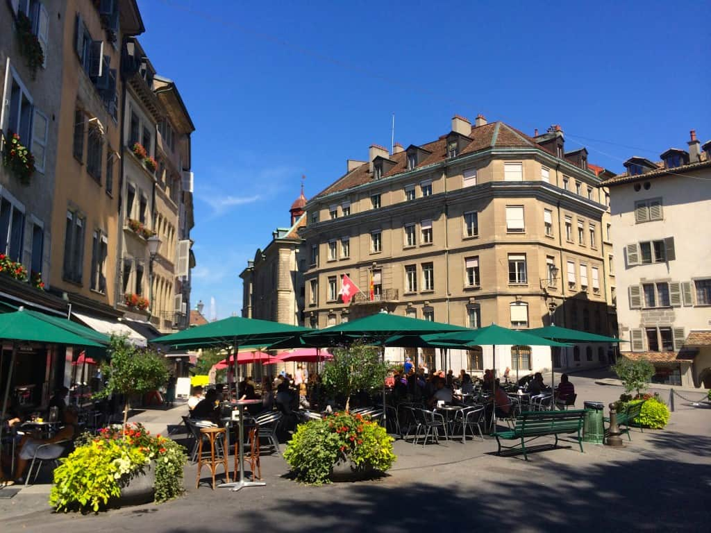 Square in Old Town Geneva