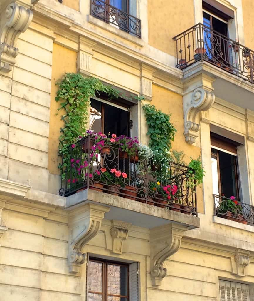 Beautiful balcony in Geneva