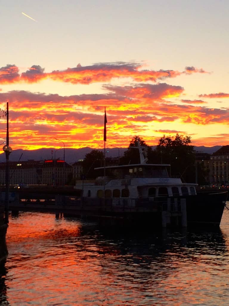 Sunset on Lake Geneva