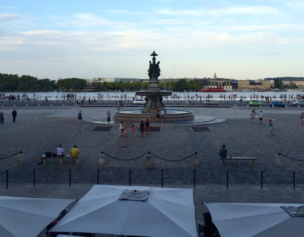 View from our table in Bordeaux