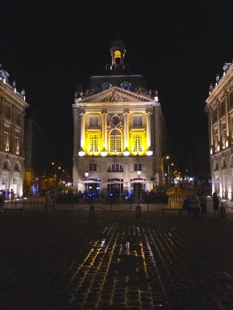 Place de la Bourse at night Christina's Cucina