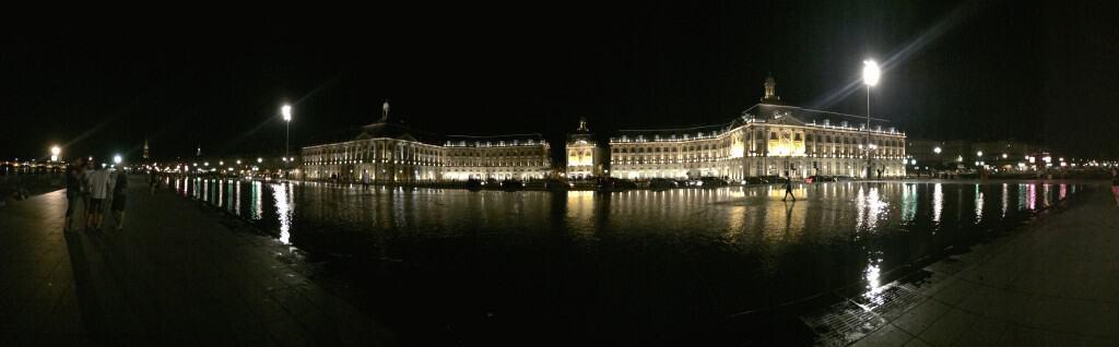 Panorama at night of Place de la Bourse Christina's Cucina