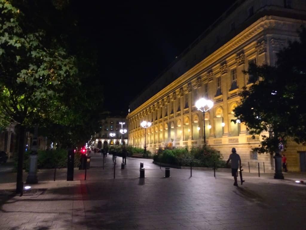 Night scene in Bordeaux
