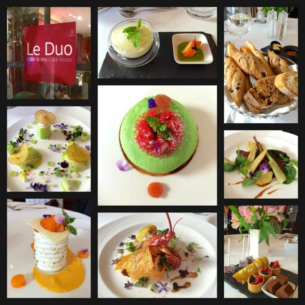 Dishes at Le Duo Restaurant in Geneva
