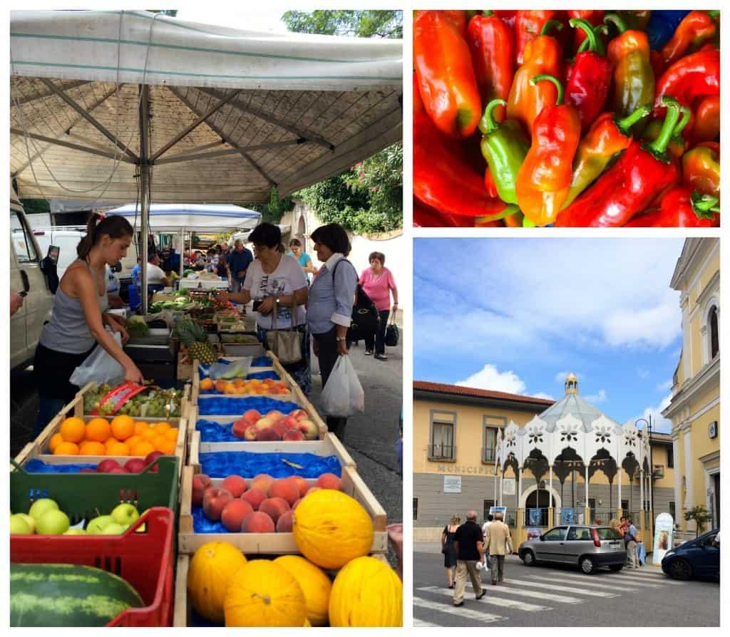 market in Cervaro, Italy