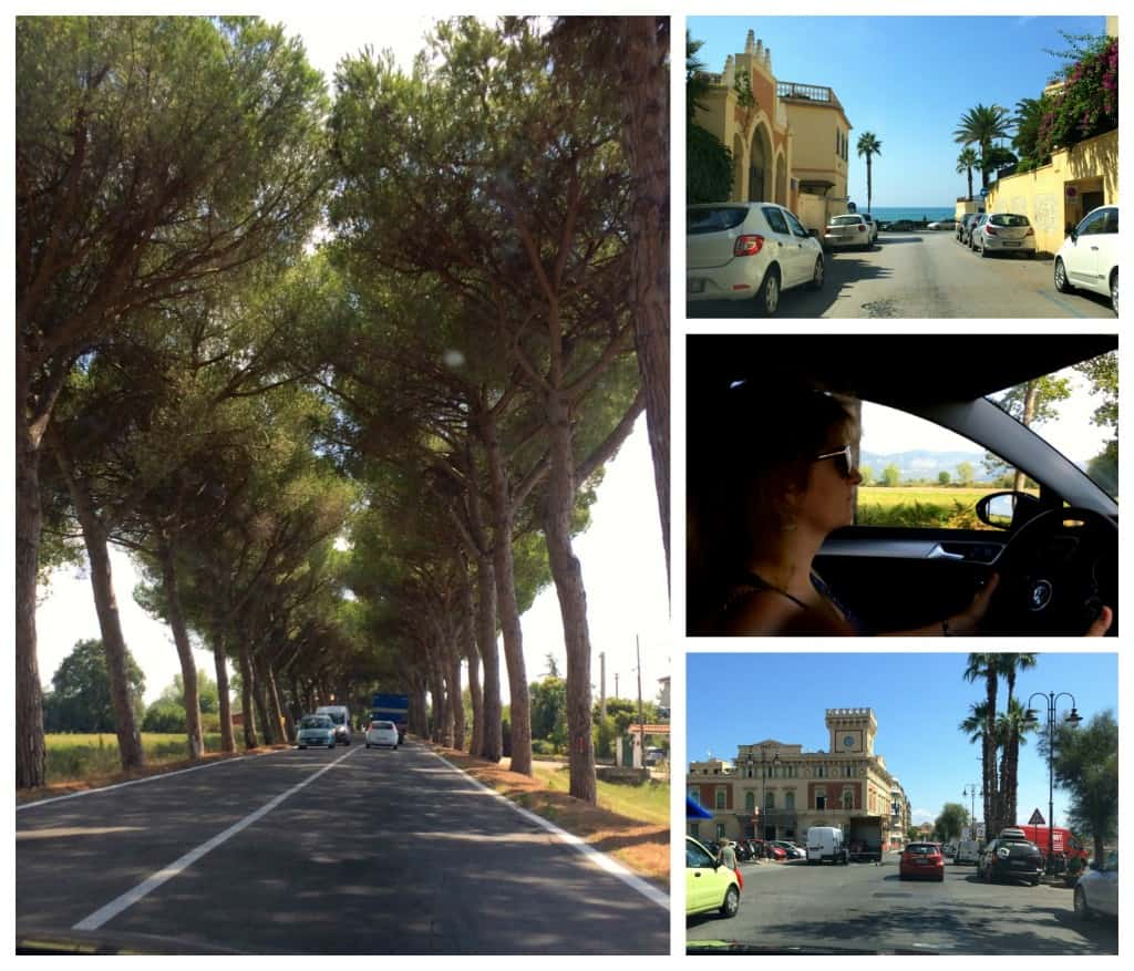 Driving south from Rome to Terracina