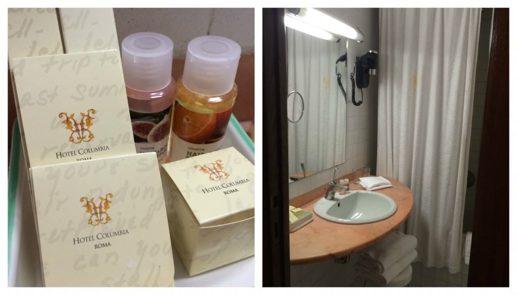 Hotel Columbia toiletries