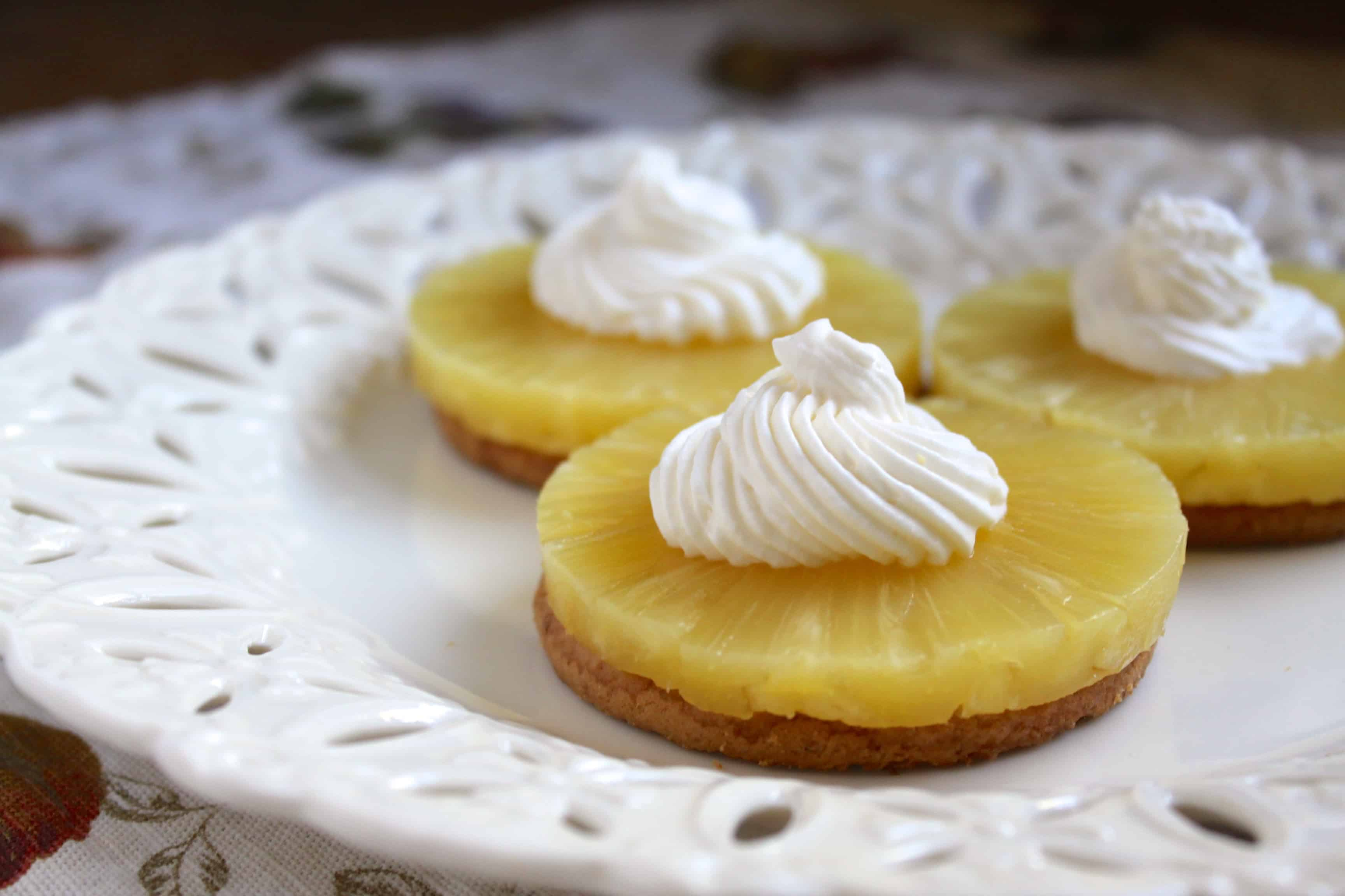 Pineapple and Cream Digestive Delights