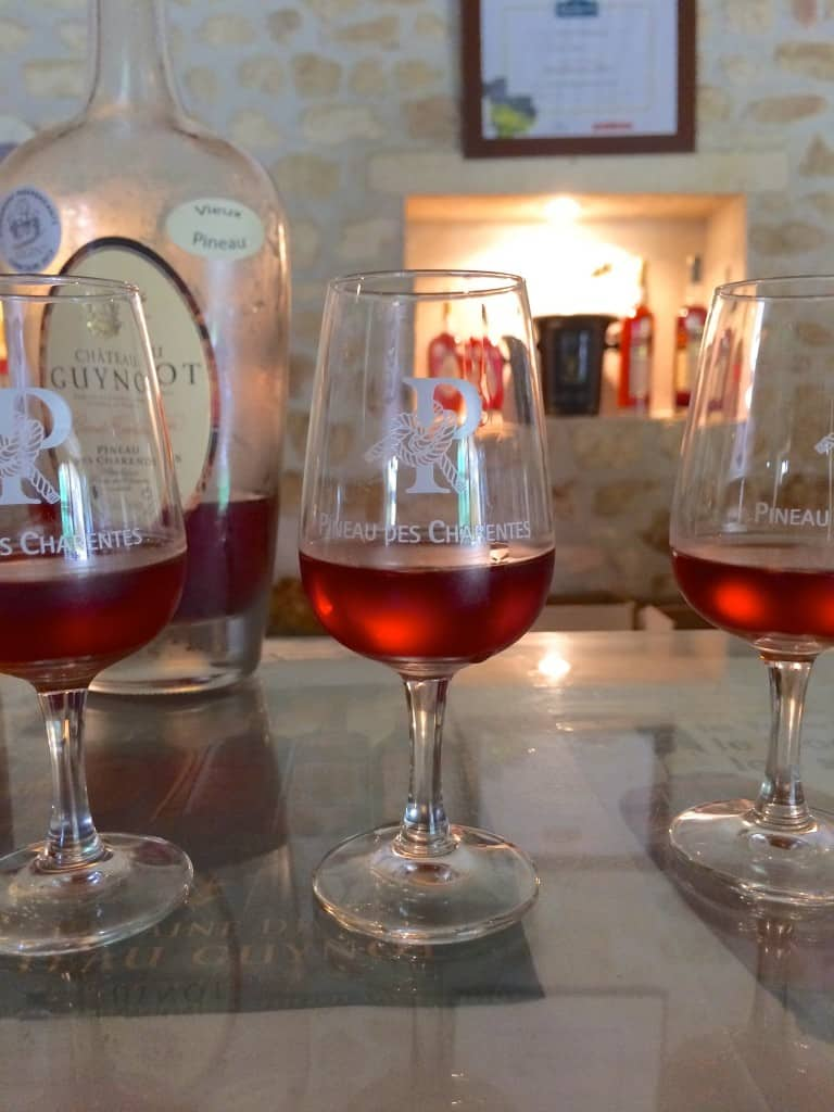 glasses of pineau
