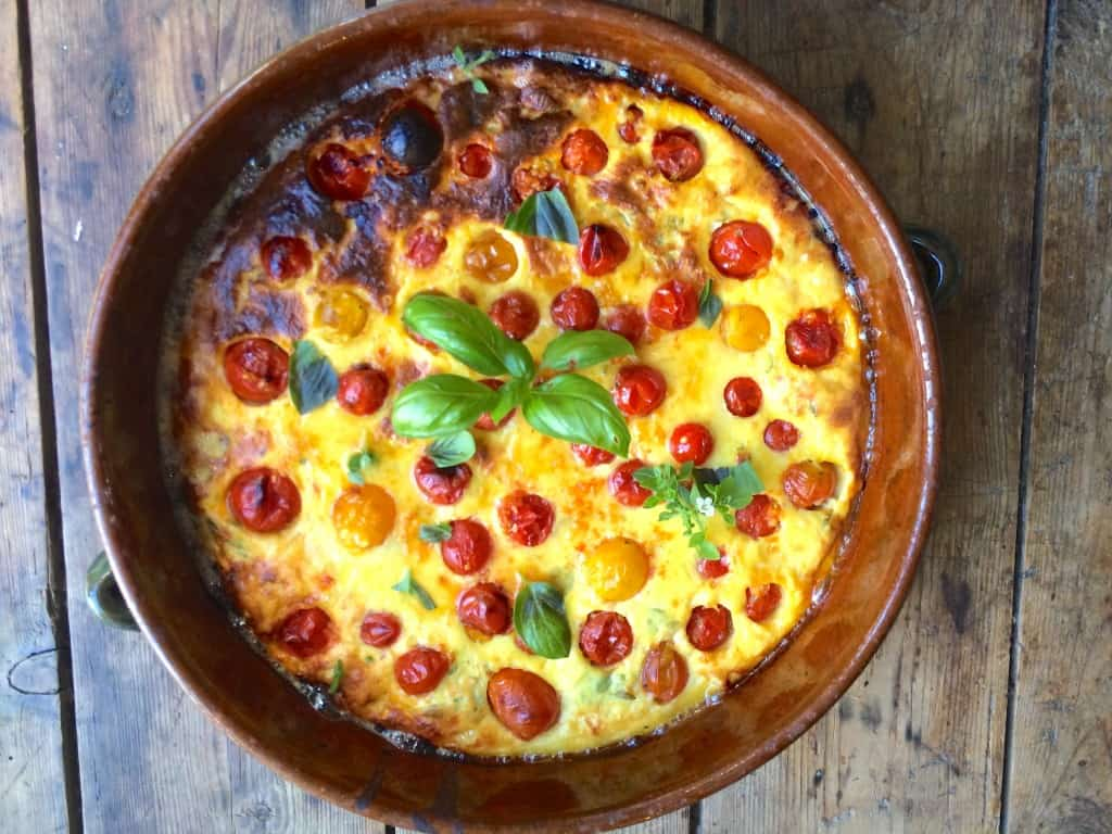 Tomato-Clafoutis