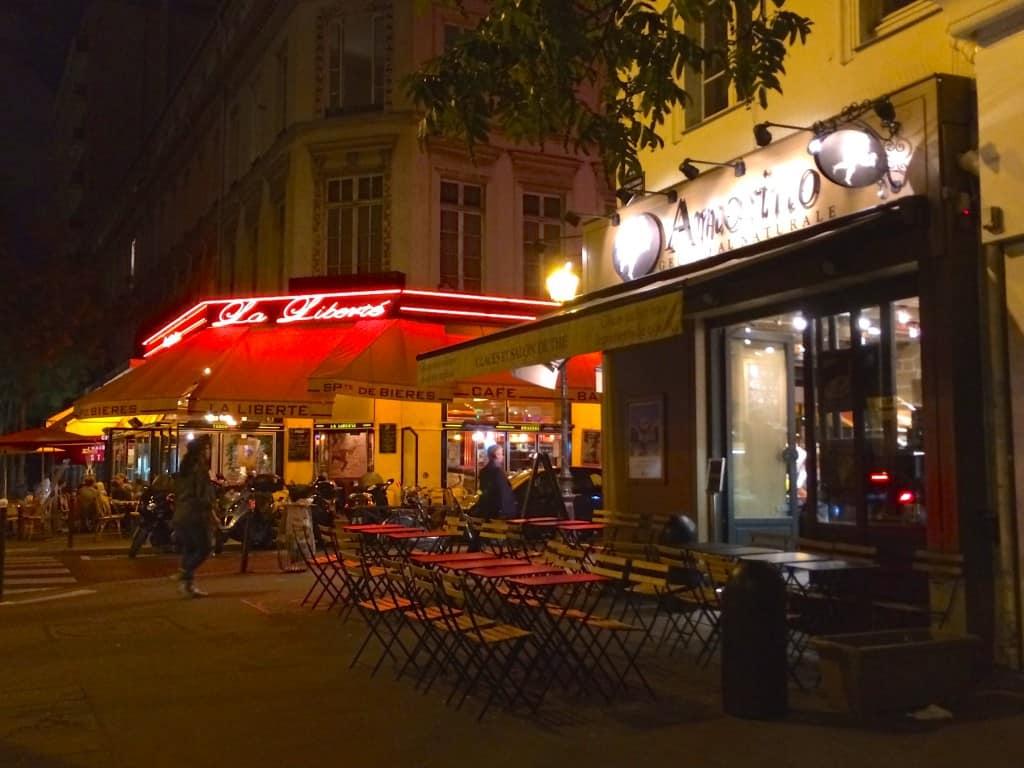 Cafes in Montparnasse at Night