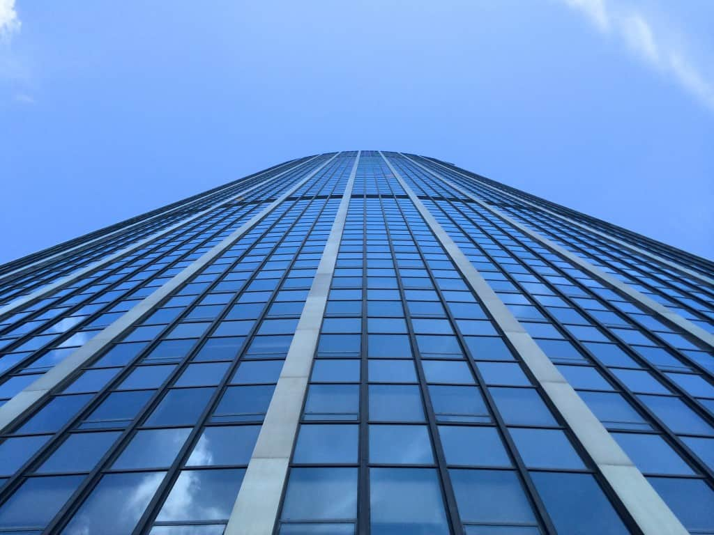 Looking up at the Montparnasse Tower