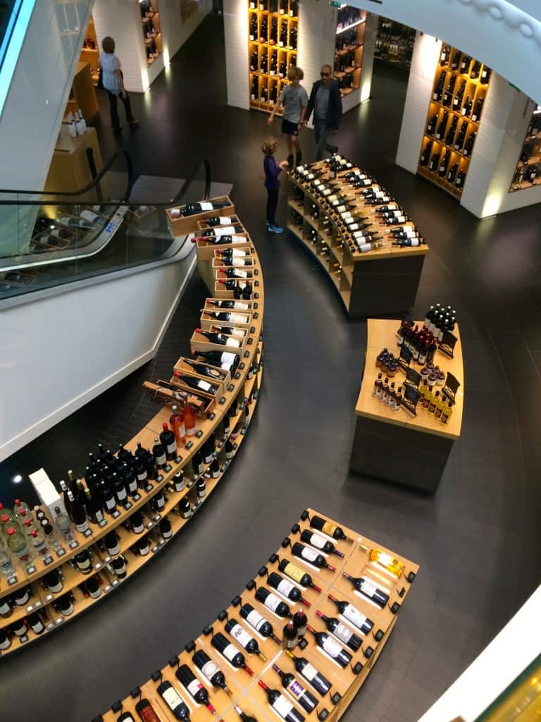 Wine at the Grand Epicerie in Paris