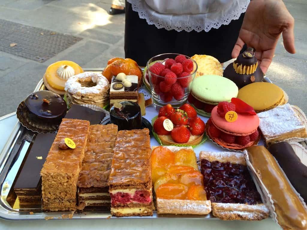 Desserts at Les Deux Magots