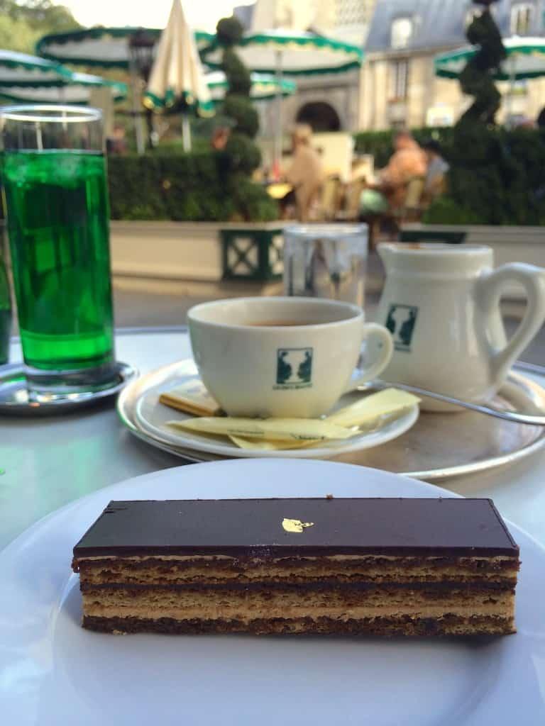 Opera Cake at Les Deux Magots, Paris