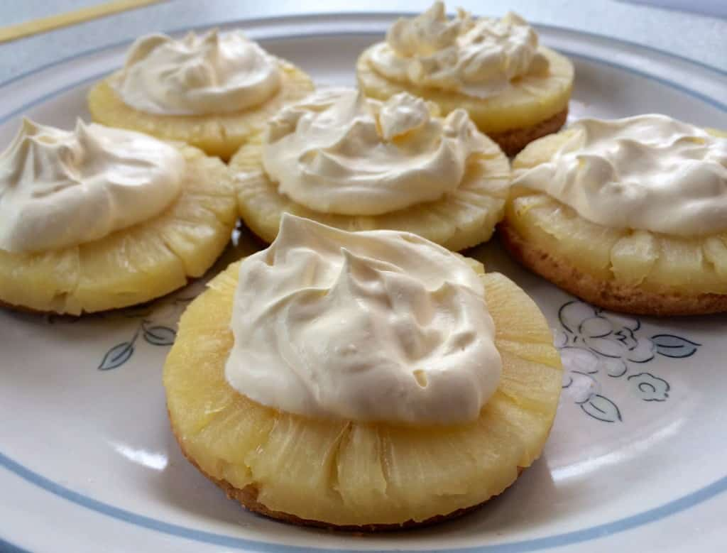 Aunt Virginia's own creation Pineapple Cream Digestive Delights
