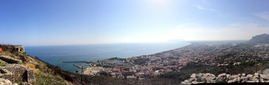 Panoramic view of Terracina, Italy