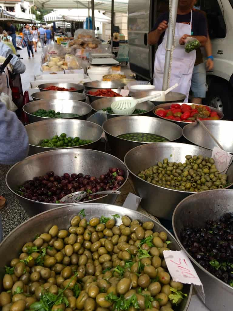 Olives at the market in Cassino