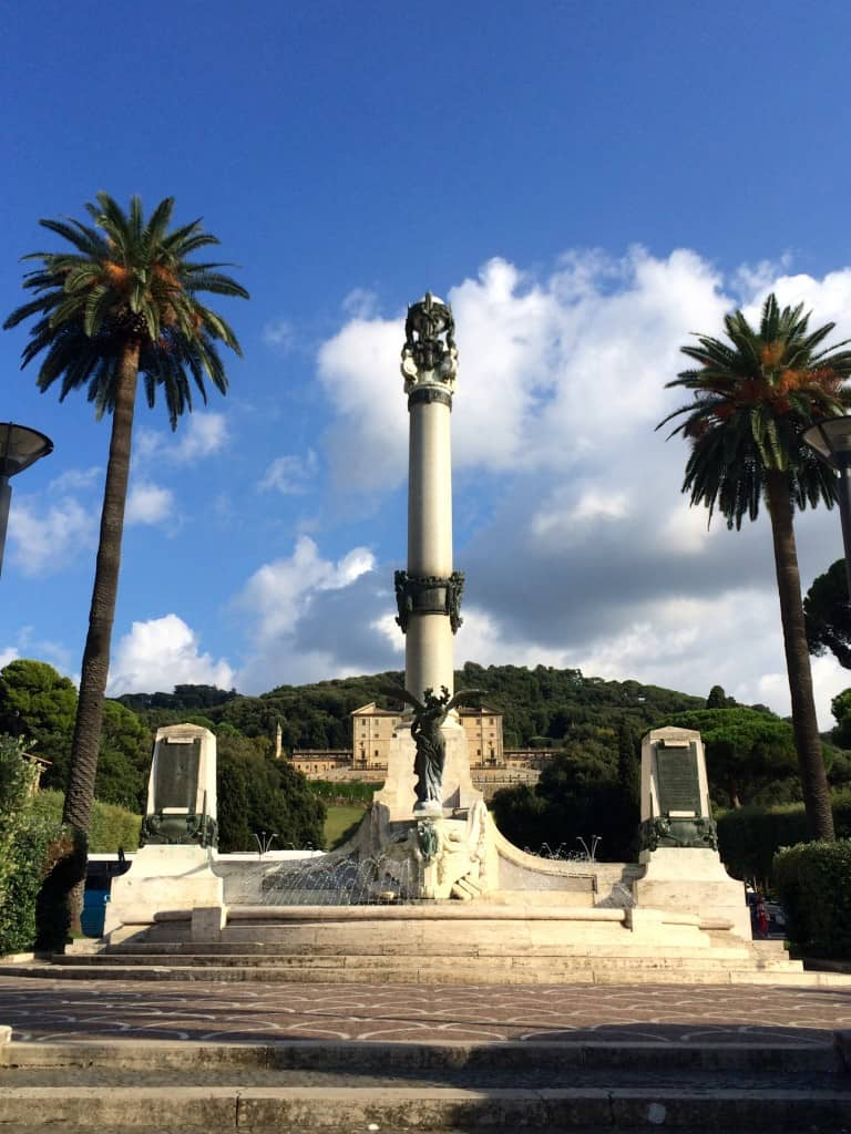 Monument to fallen soldiers in Frascati, Italy