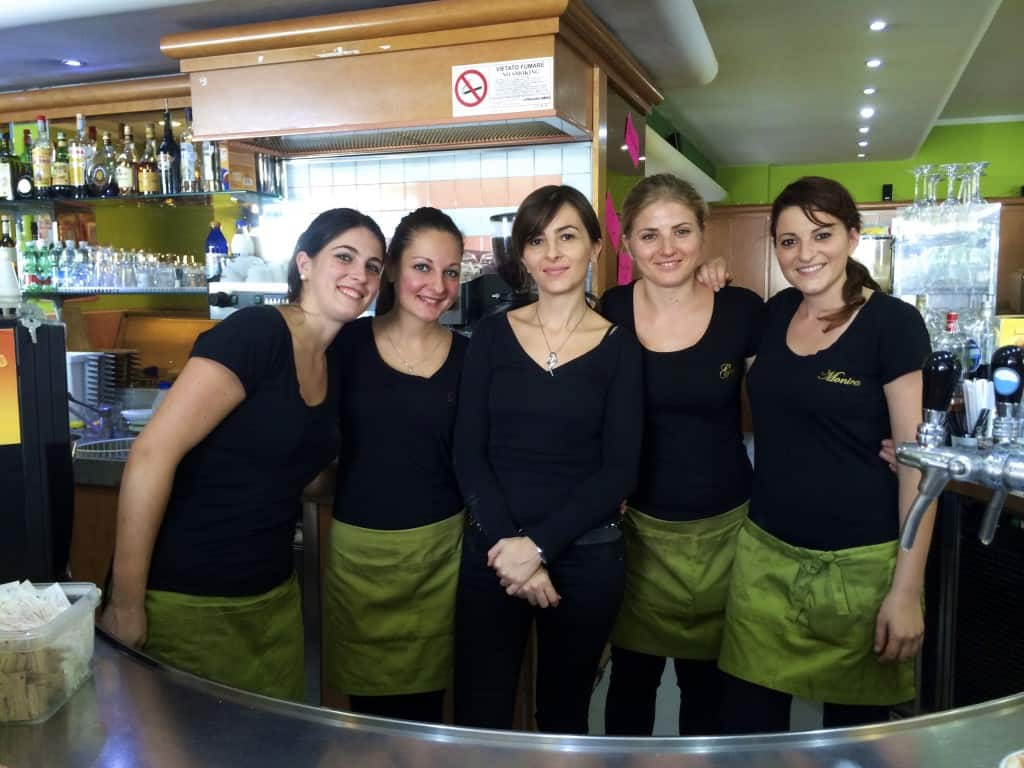 lovely workers at a bar in Cassino