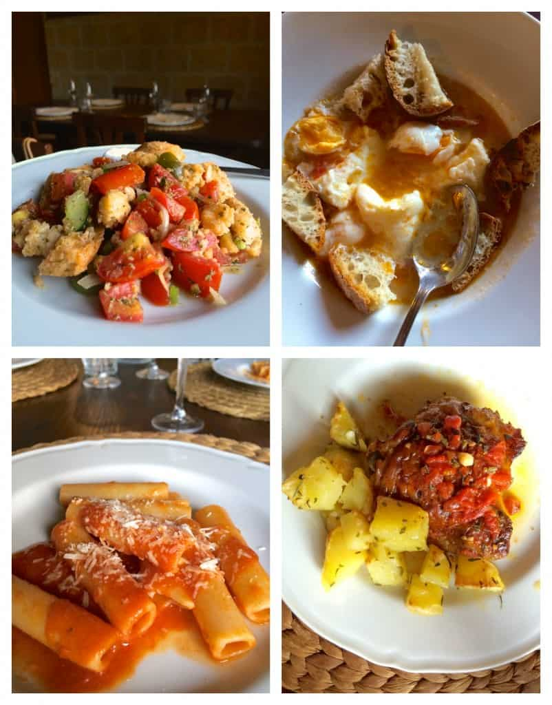dishes of food at Il Contadino