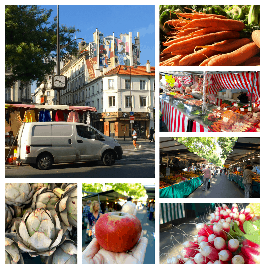 Market in Montparnasse Paris
