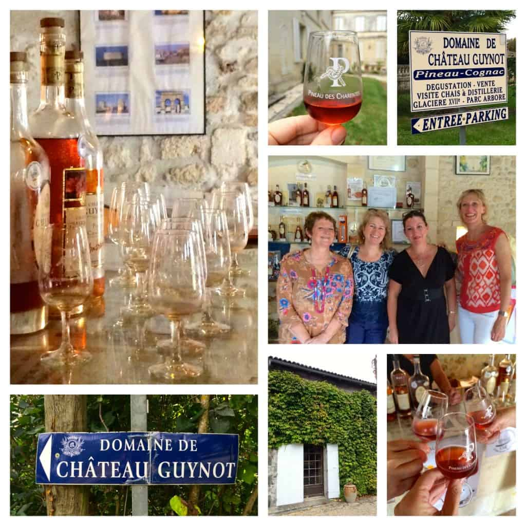 Tasting pineau at Chateau Guynot Christinas Cucina