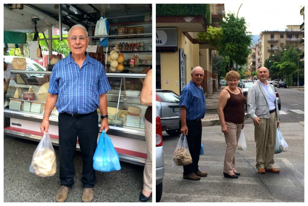 Shopping at the market in Cassino, Italy