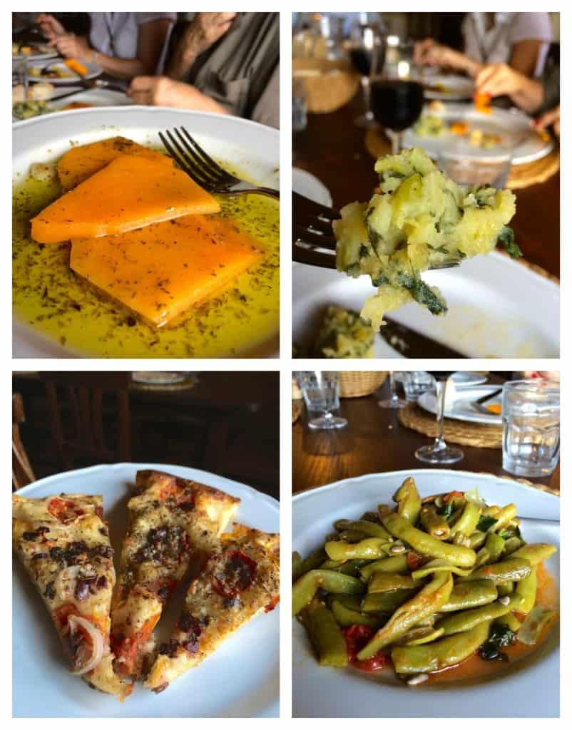 dishes at Il Contadino