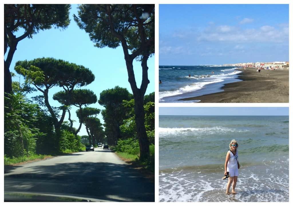 Via Appia and the sea
