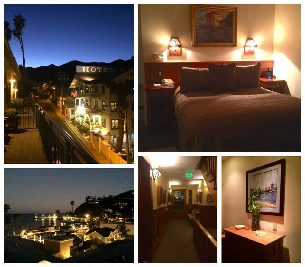 Avalon Hotel room and views at night