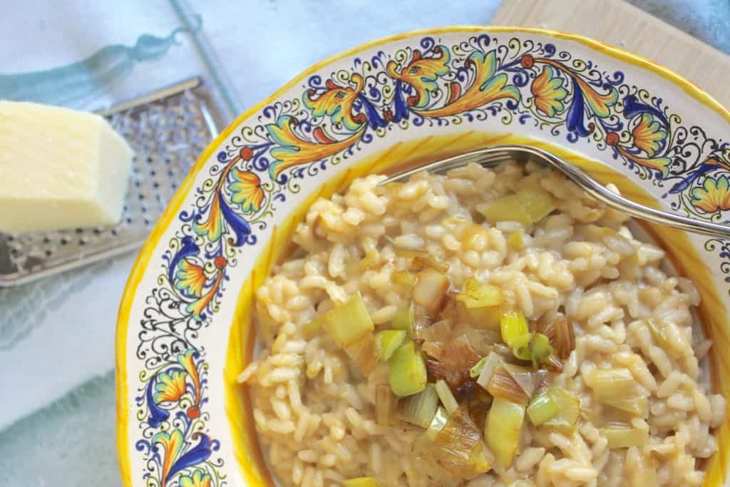 Leek and Pecorino risotto by Christina's Cucina