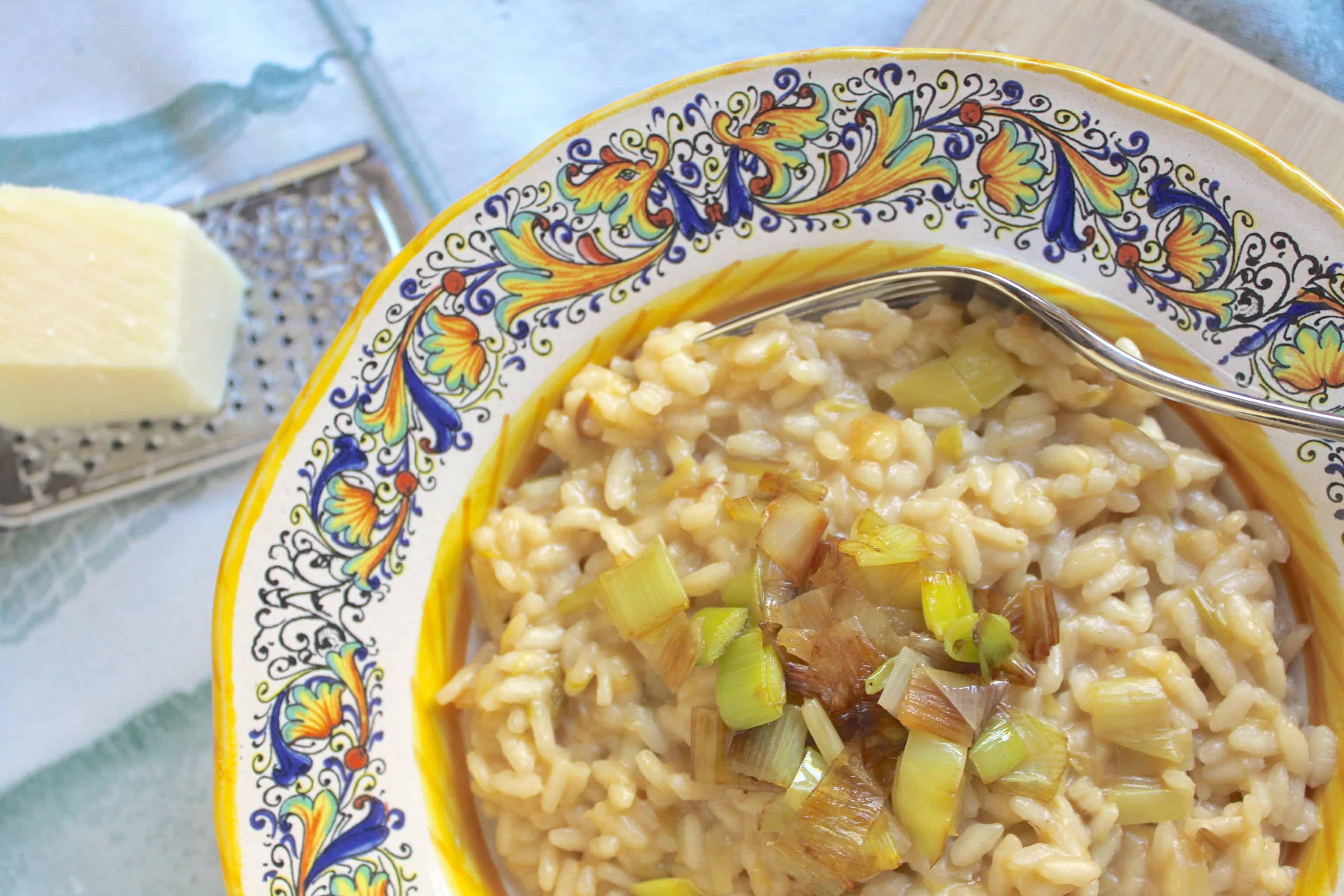 Leek and Pecorino risotto by Christina's Cucina
