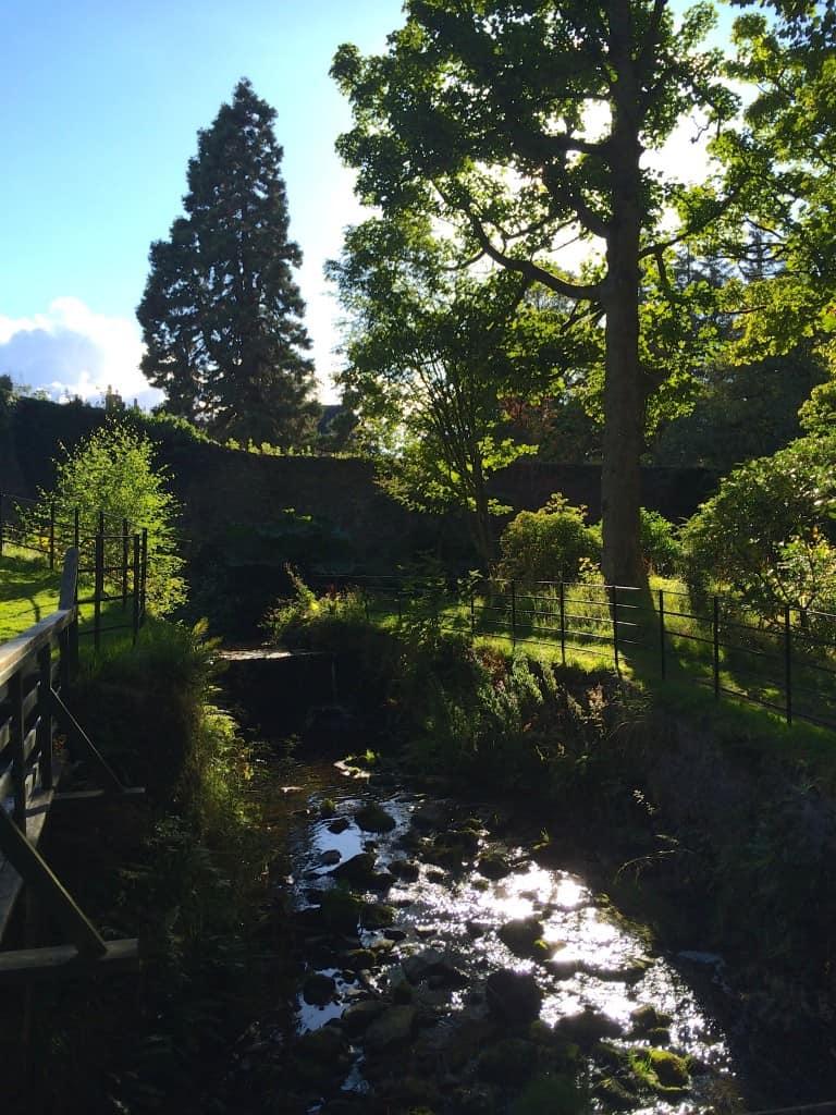 Walking through Geilston Garden in Scotland