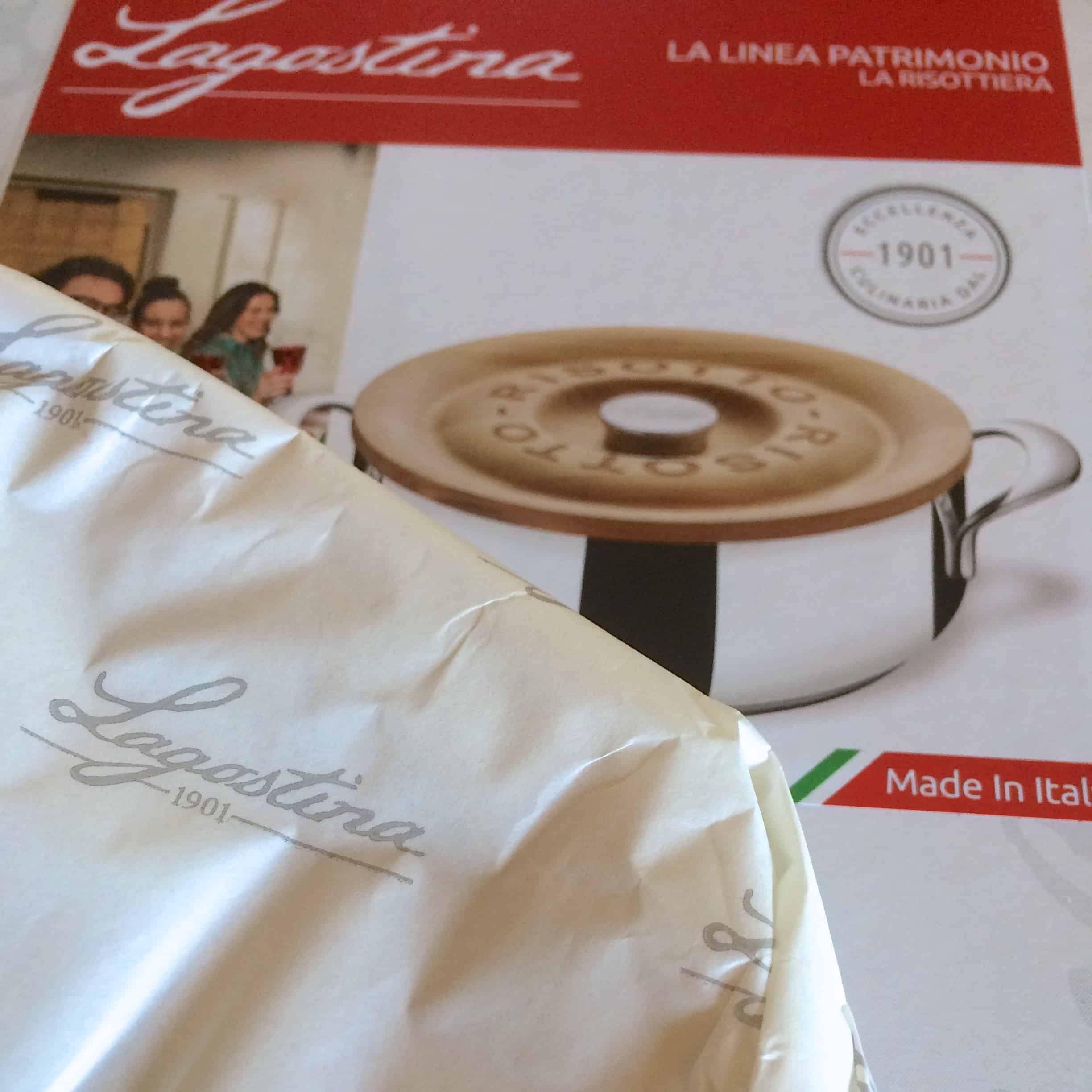 Lagostina review with the risotto pot box