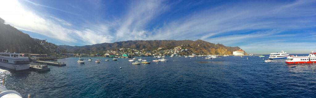 Panorama of Avalon Harbor