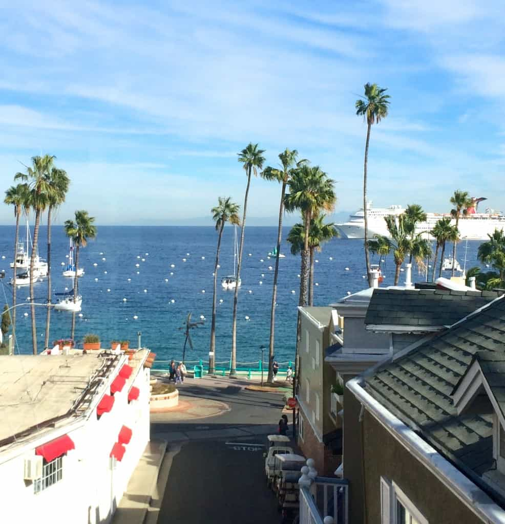 View from the Avalon Hotel on Catalina Island