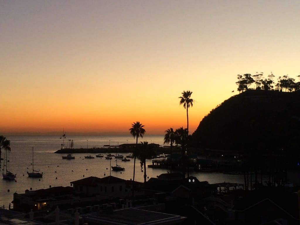 sunrise in Catalina Island