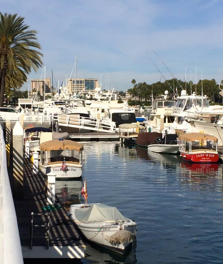 Boats in Newport Beach, California
