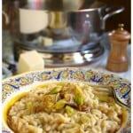 Caramelized Leek, Pecorino (and Sausage) Risotto