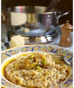 Lagostina Risotto pot with Caramelized Leek and Pecorino Cheese by Christina's Cucina