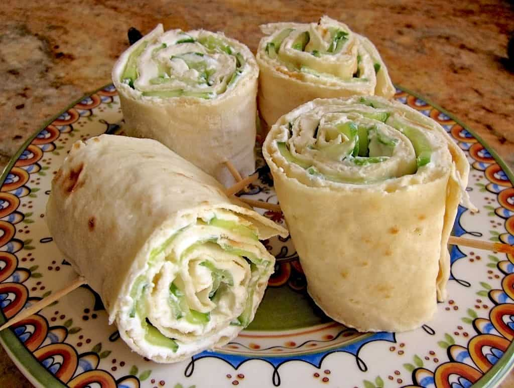 cucumber pinwheels cucumber and cream cheese rolls