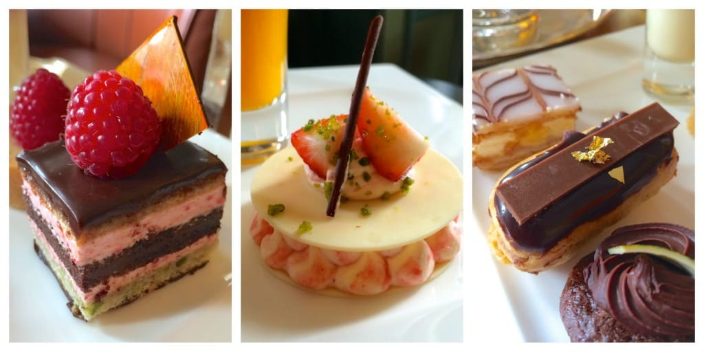 Pastries at Gleneagles afternoon tea
