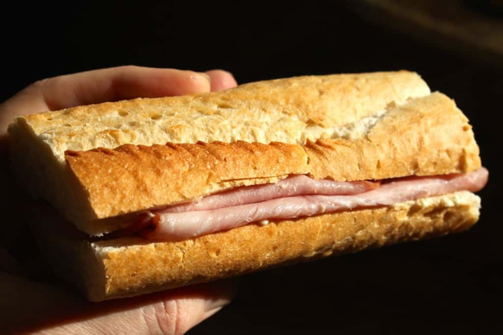 Simplest is Best: French Ham and Butter Baguette Sandwich ...