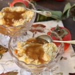 Persimmon Apple Crumble with Rum Sauce