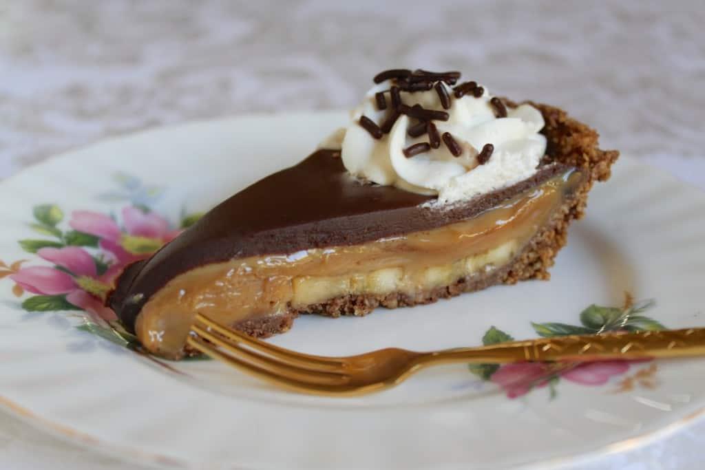Slice of Chocolate Banoffee Pie