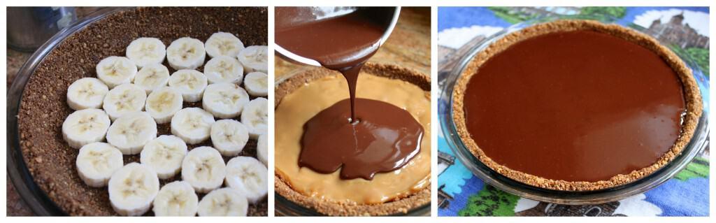 Making Chocolate Banoffee Pie