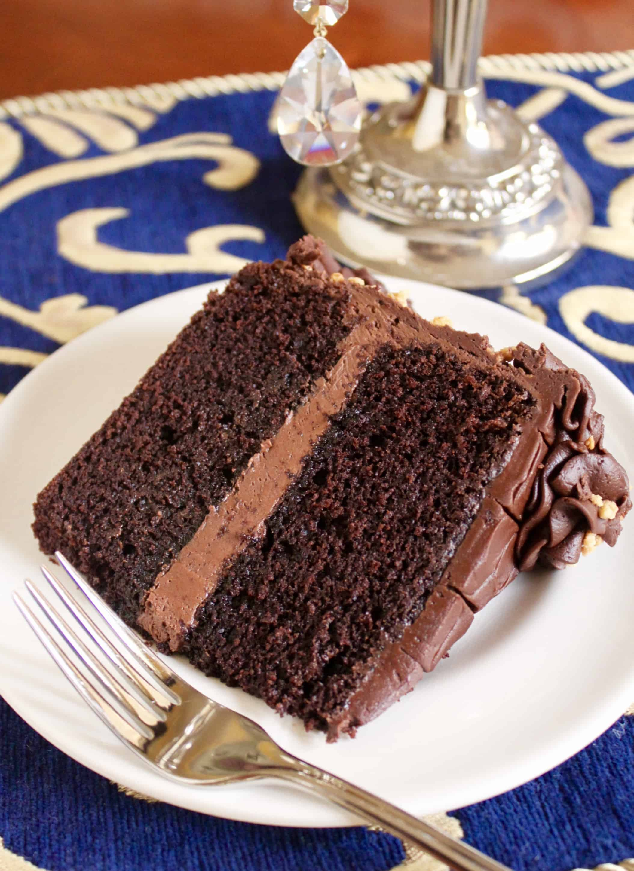 slice of chocolate beetroot cake