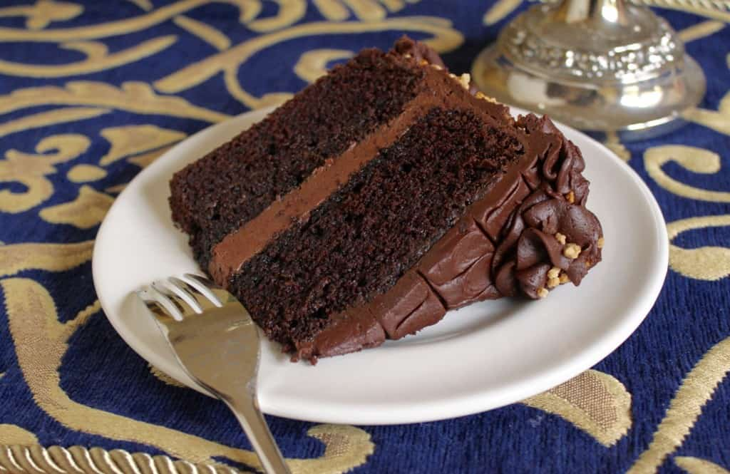 Slice of Beet Chocolate Cake