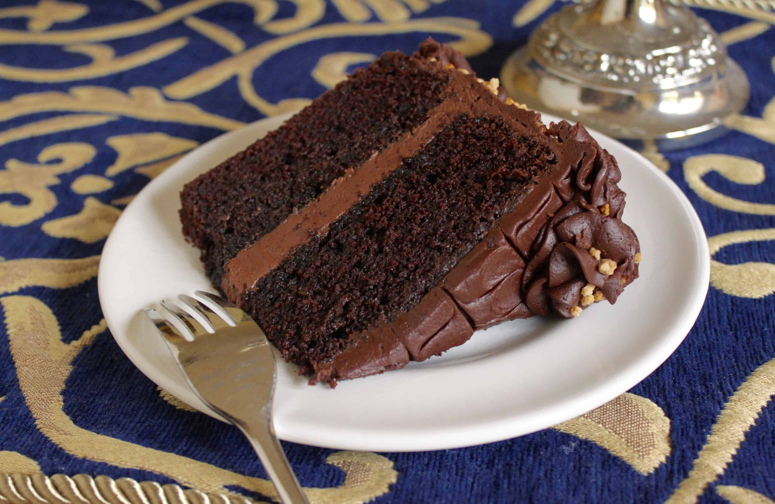 Slice of moist Chocolate Cake